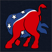 DEMOCRATIC DONKEY (HEAD UP ITS ASS)