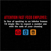 ATTENTION FAST FOOD EMPLOYEE